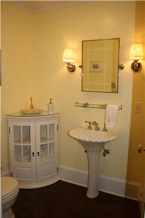 Nantucket town, (Near Town and Steps Beach) Nantucket vacation rental - Front Hall Powder Room