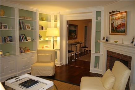 Nantucket town, (Near Town and Steps Beach) Nantucket vacation rental - Library with View of Dining Room