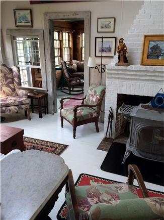 Siasconset, Nantucket Nantucket vacation rental - Living room nautical art and antiques