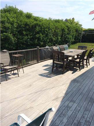 Siasconset, Nantucket Nantucket vacation rental - Large Private porch, with outside dining, great for entertaining