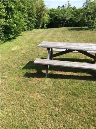 Siasconset, Nantucket Nantucket vacation rental - Spacious private yard completely hedged about wity picnic table
