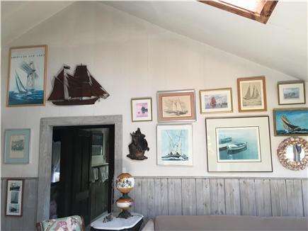Siasconset, Nantucket Nantucket vacation rental - Nautical art in the Living Room