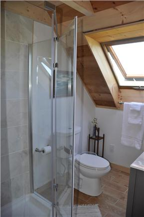 Surfside Nantucket vacation rental - Second floor new bathroom with shower and skylight