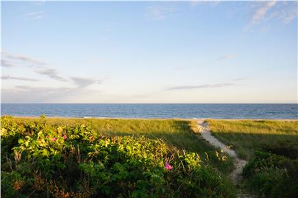 Surfside Nantucket vacation rental - The sandy path leading down to the beach