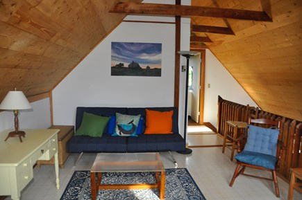 Surfside Nantucket vacation rental - Loft area with futon couch that can fold out to a full sized bed