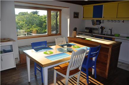 Surfside Nantucket vacation rental - The dining and kitchen area
