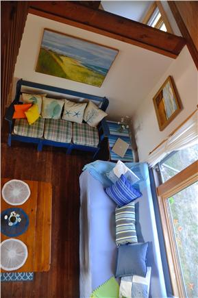 Surfside Nantucket vacation rental - View of the first floor living space from the loft