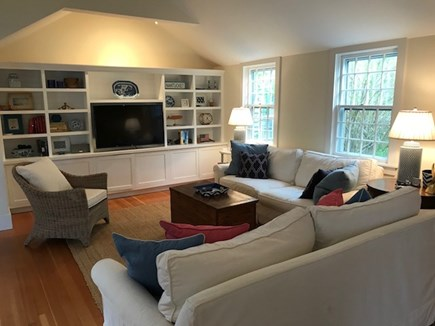 Nantucket town Nantucket vacation rental - Open Concept Family Room w/TV, DVD, wii next to Dining Area.