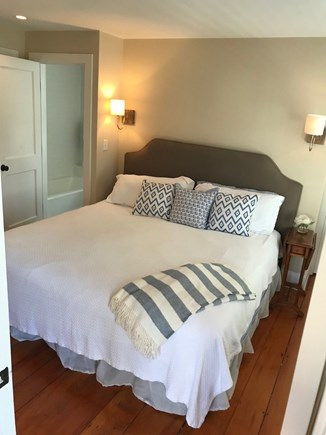 Nantucket town Nantucket vacation rental - First floor master king bedroom with ensuite shower & tub
