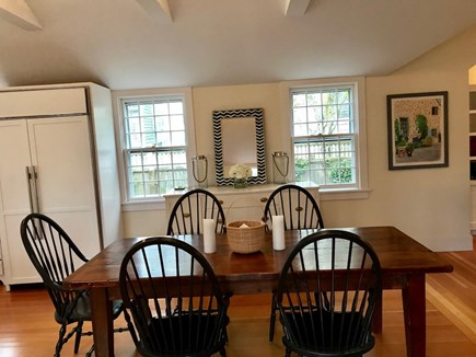 Nantucket town Nantucket vacation rental - Long farm table, perfect for family dinners. Seats 8 people.