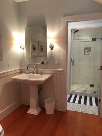 Nantucket town Nantucket vacation rental - Large downstairs bathroom with shower & laundry. Off the LR.