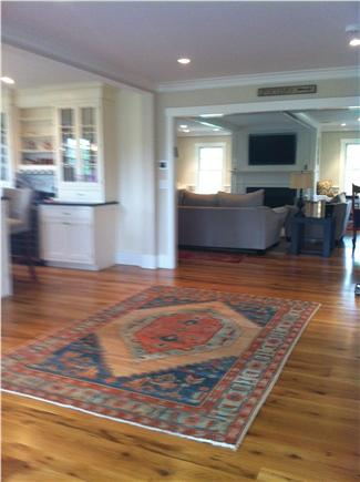 Pocomo Nantucket vacation rental - This way to the great room for some family fun. TV over fireplace