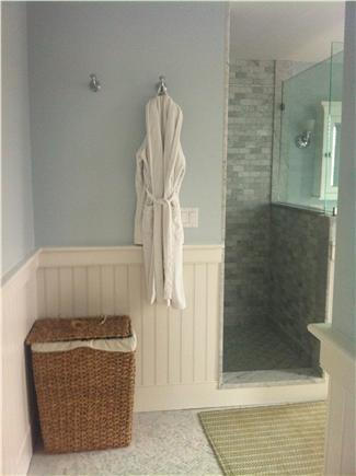 Pocomo Nantucket vacation rental - Master bath. (The outdoor shower by the pool is popular, too.)