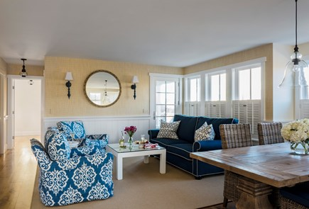 Brant Point, Nantucket Nantucket vacation rental - Light filled Family Room with access to porch & outdoor shower!