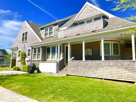 Brant Point, Nantucket Nantucket vacation rental - Side porch includes dining, Sonos music system & outdoor shower!
