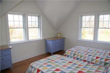 Siasconset Nantucket vacation rental - The west bedroom looks over the moors and has its own bath.
