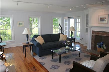 Siasconset Nantucket vacation rental - The living room is open and bright.