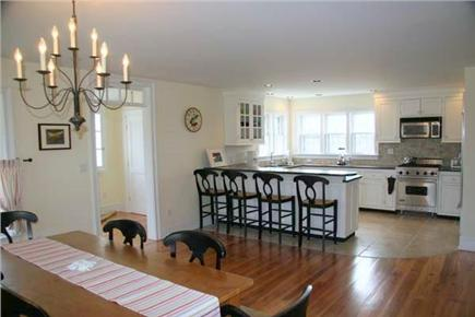Siasconset Nantucket vacation rental - The dining room seats 8.  Appliances are by Wolf and Sub Zero.