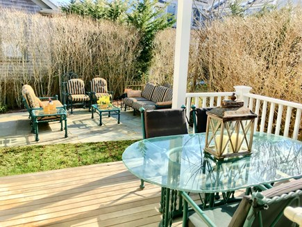 Nantucket town Nantucket vacation rental - Deck and stone patio