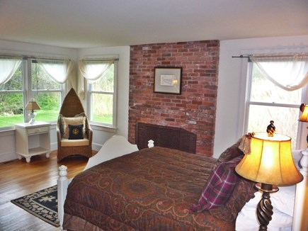 Brant Point Nantucket vacation rental - 1st Floor King Bedroom with doorway to back deck