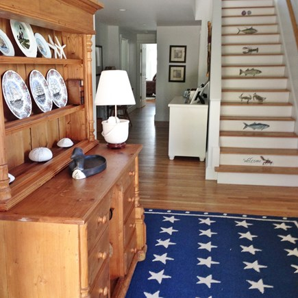 Brant Point Nantucket vacation rental - Front entry with stairway to second floor