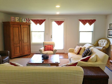 Brant Point Nantucket vacation rental - 1st Floor sitting room with doorway to deck and backyard