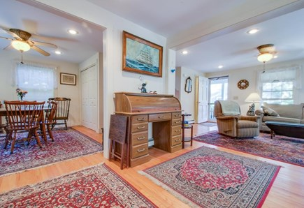 Nantucket town Nantucket vacation rental - Open space offers seating for everyone & a scroll-top desk