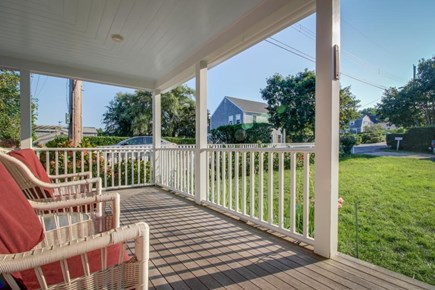 Nantucket town Nantucket vacation rental - Relax outdoors on cozy wicker chairs & admire the green lawn