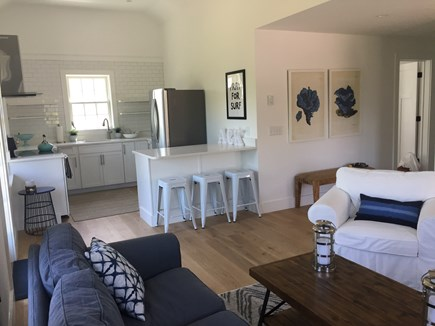 Nantucket town Nantucket vacation rental - Open kitchen and living area with vaulted ceiling