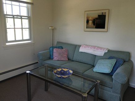 Mid-island Nantucket vacation rental - The study has a queen sofa-bed, dresser, and closet.