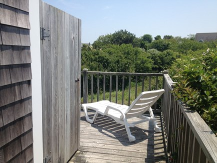 Mid-island Nantucket vacation rental - The Outdoor Shower: everyone's favorite room in the house!