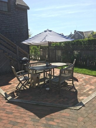 Nantucket town Nantucket vacation rental - The patio in early morning from the front door.