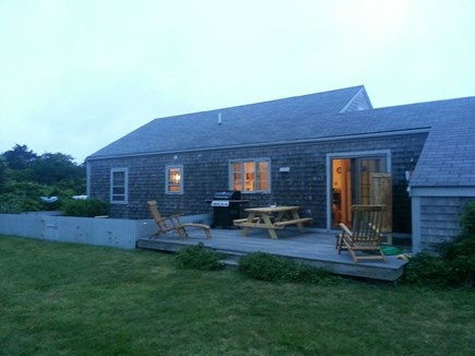 Wauwinet Nantucket vacation rental - Tranquil, private back yard. deck, shower, grill, picnic table...