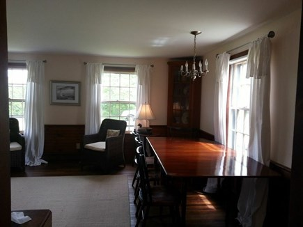 Wauwinet Nantucket vacation rental - Living dining rooms. Large dining table.
