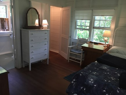 Siasconset Nantucket vacation rental - Look west to the master bath and walk-in closet