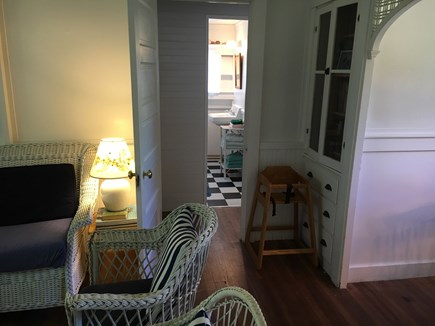 Siasconset Nantucket vacation rental - Back through the living room to the guest quarters