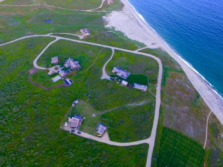 Madaket Nantucket vacation rental - Aerial view- property is located on bottom half of photo