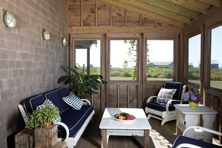 Madaket Nantucket vacation rental - Screen porch with great views of ocean and sunsets