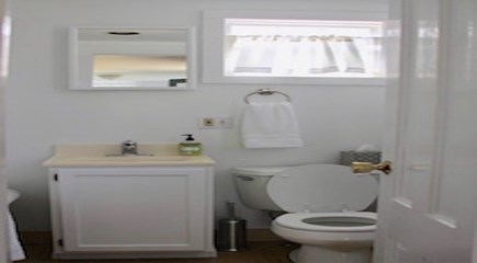 Siasconset Nantucket vacation rental - Full Bath w Tub (Full Enclosed Outdoor Shower in Rear of Cottage)
