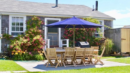 Siasconset Nantucket vacation rental - New Bluestone Patio, Landscape, Grill, and Outdoor Shower