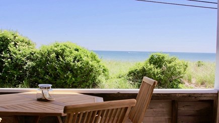 Siasconset Nantucket vacation rental - View of 'Sconset Beach and Ocean from Covered Porch off Kitchen