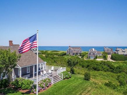 Quidnet Nantucket vacation rental - Areal view looking Atlantic Ocean