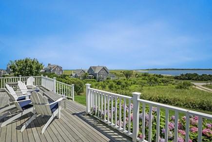 Quidnet Nantucket vacation rental - Back deck overlooking Sesachacha Pond
