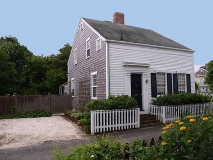 Nantucket town, Nantucket Nantucket vacation rental - House from east showing parking area