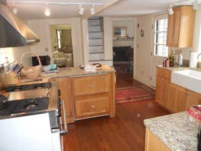 Nantucket town, Nantucket Nantucket vacation rental - View of kitchen from utility room to dining room and living room