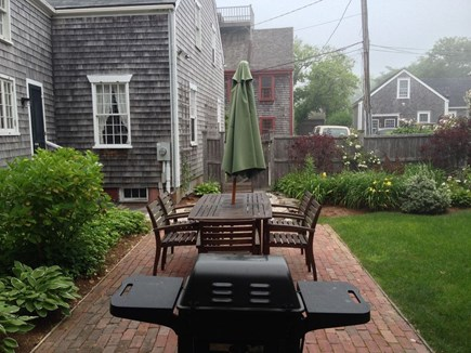 Nantucket town, Nantucket Nantucket vacation rental - Patio looking to street and parking area