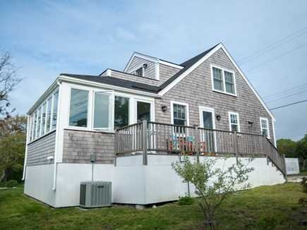 Madaket, Nantucket Nantucket vacation rental - Side view of home showing the 3 season porch and upstairs deck.