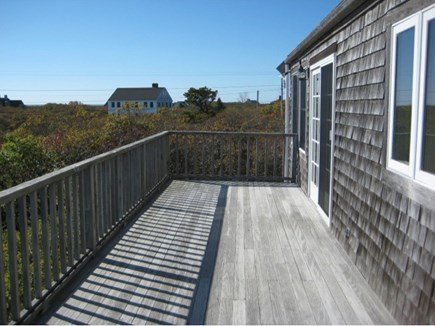 Tom Nevers Nantucket vacation rental - 2nd Floor Deck (furniture not shown). Stair access from East yard