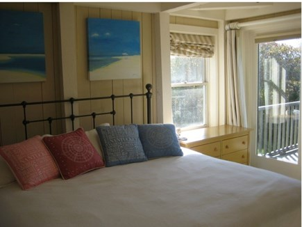 Tom Nevers Nantucket vacation rental - Master Bedroom with glass doors to private deck