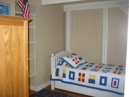 Tom Nevers Nantucket vacation rental - 3rd Bedroom; twin bed; built-in bookshelf; large dresser